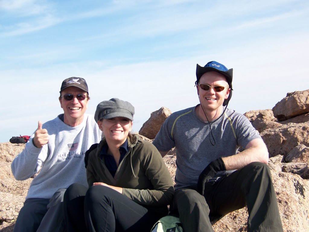 Alan, Kristina, and Jason: Summit of Longs Peak, August 23, 2009.