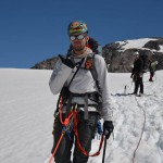 Jeff approaching Liberty Ridge on Mt. Rainier, 2013.