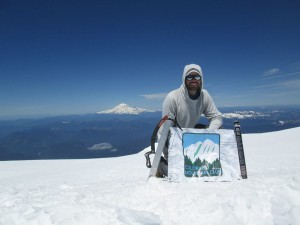 The author on the summit.