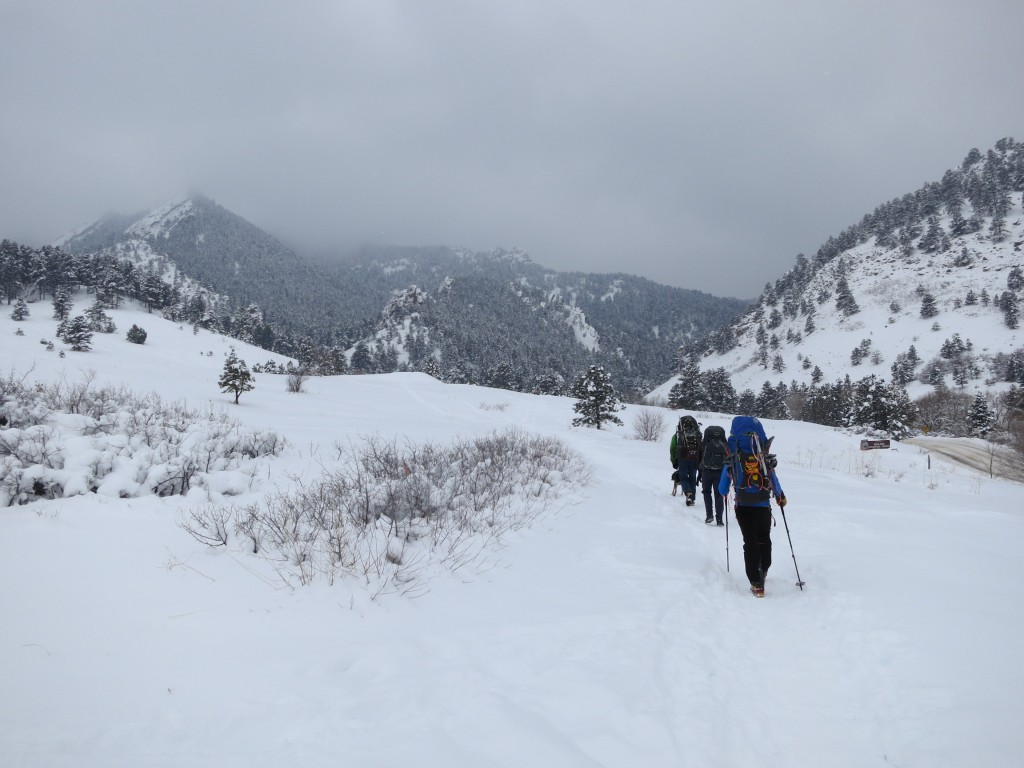 Starting up Green Mountain (8,150') outside of Boulder, CO, March 1st, 2015. Photo Courtesy of Jim Berryhill.