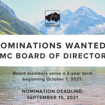 Nominations Wanted: CMC Board of Directors