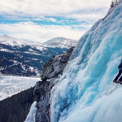 Hone your ice climbing skills at the Alpine Ambassadors Ice Climbing Mentorship Camp in January 2019.